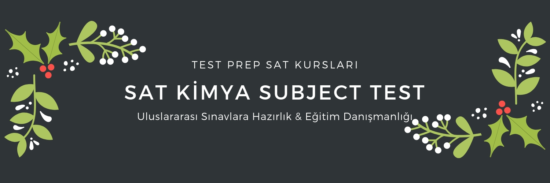 SAT Chemistry Kursu SAT Kimya Kursu